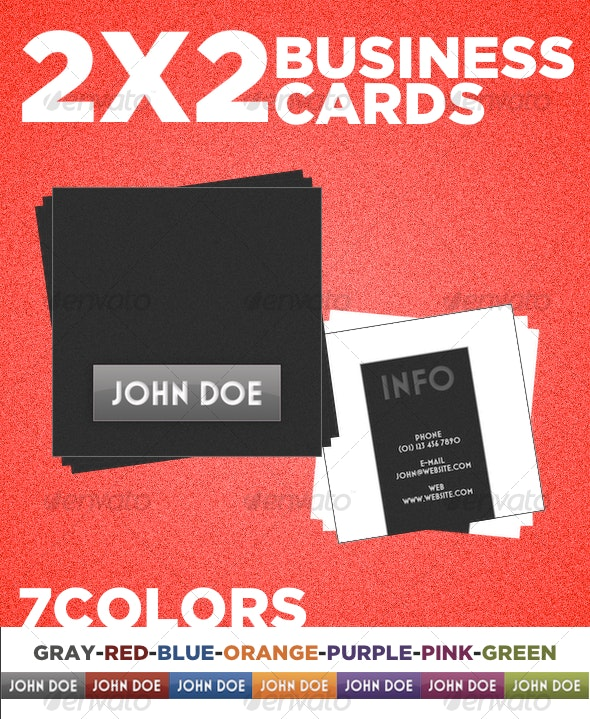 2x2 Color Boxes Business Card - Creative Business Cards