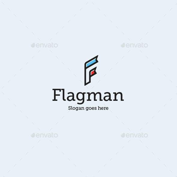 Flagman • Letter F Logo Template