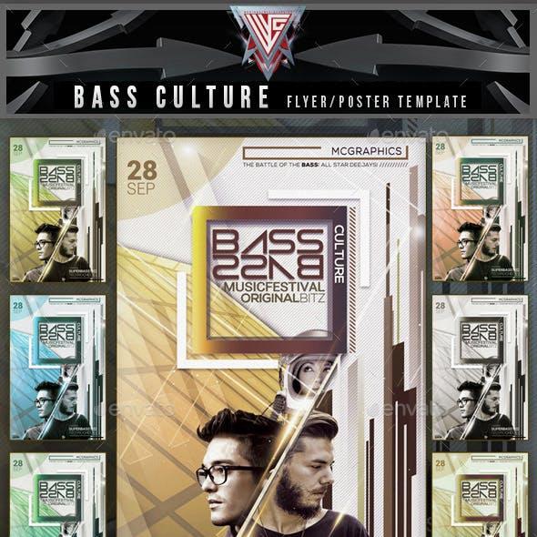 Bass Culture Flyer Template