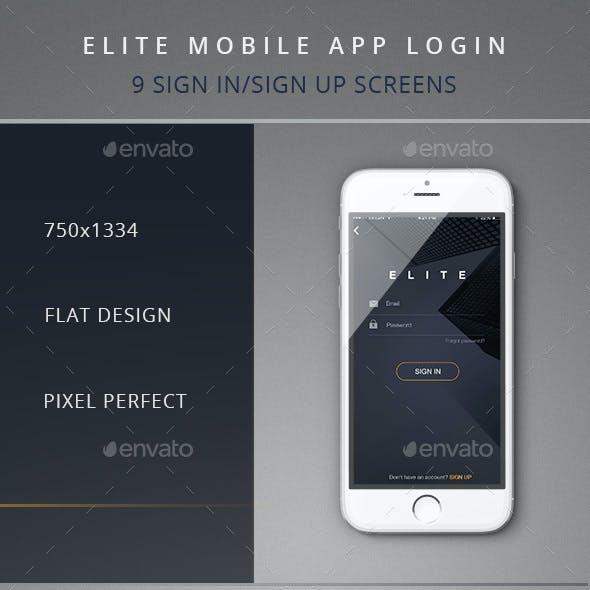 Elite Mobile App Login