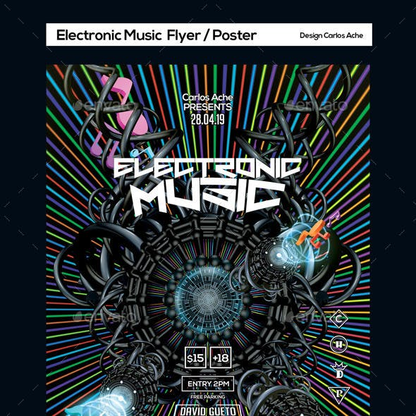 Electronic Music Flyer and Poster Template