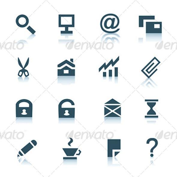 Gray internet icons, part 1