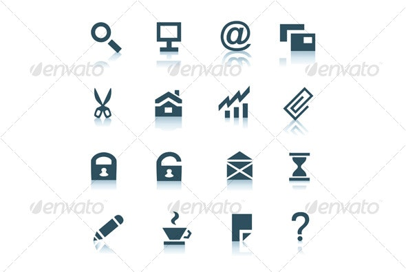 Gray internet icons, part 1 - Web Icons