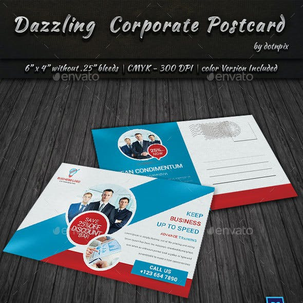 Dazzling Corporate Postcard