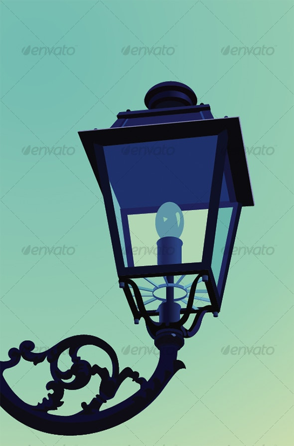 Old Style Street Lamp - Man-made Objects Objects