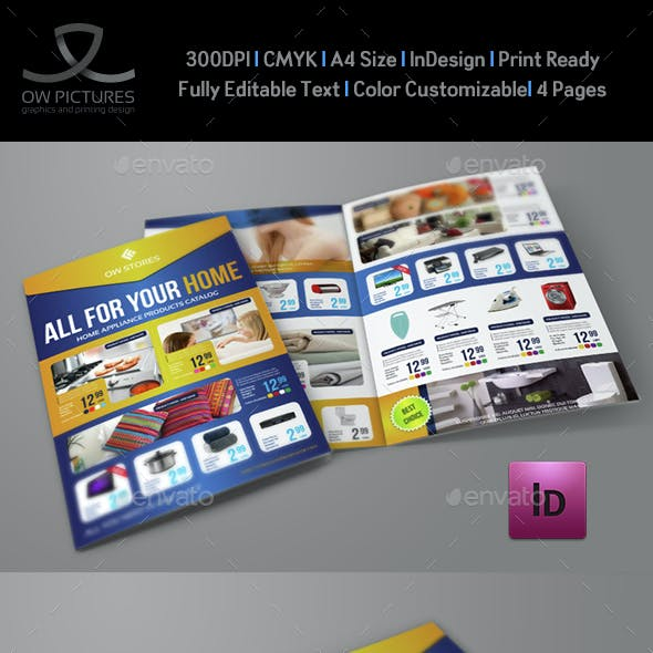 Products Catalog Bi-Fold Brochure Template