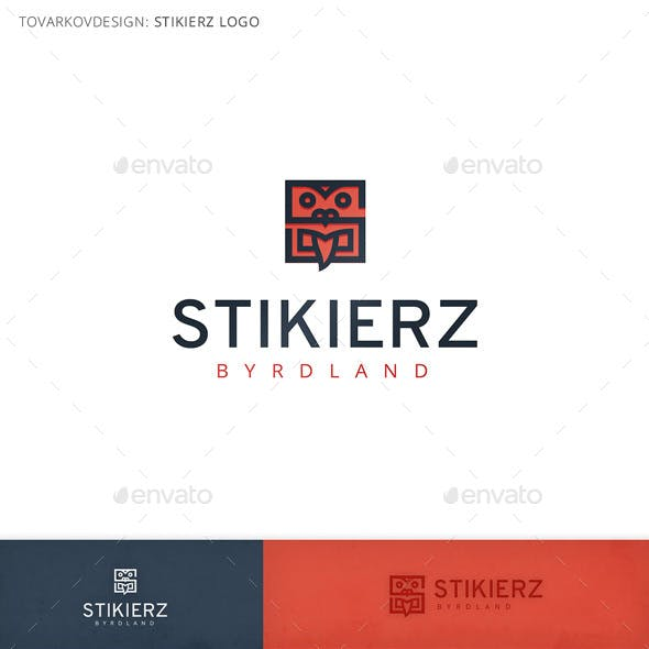 Stikierz Face Mask Logo Template