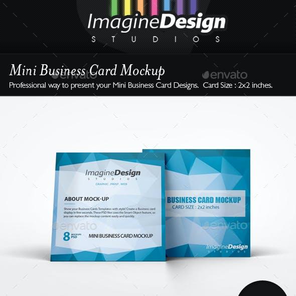 Mini Business Card Mockup