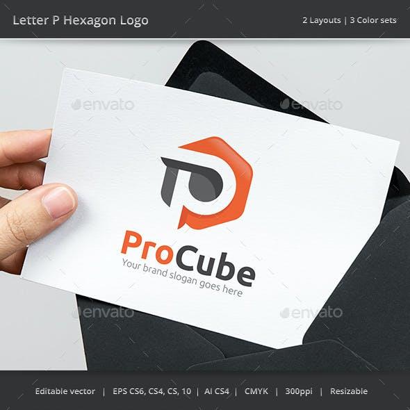 Letter P Hexagon Logo