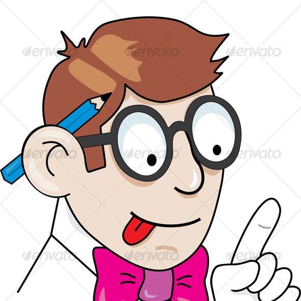Geek Mascot - The IT guy