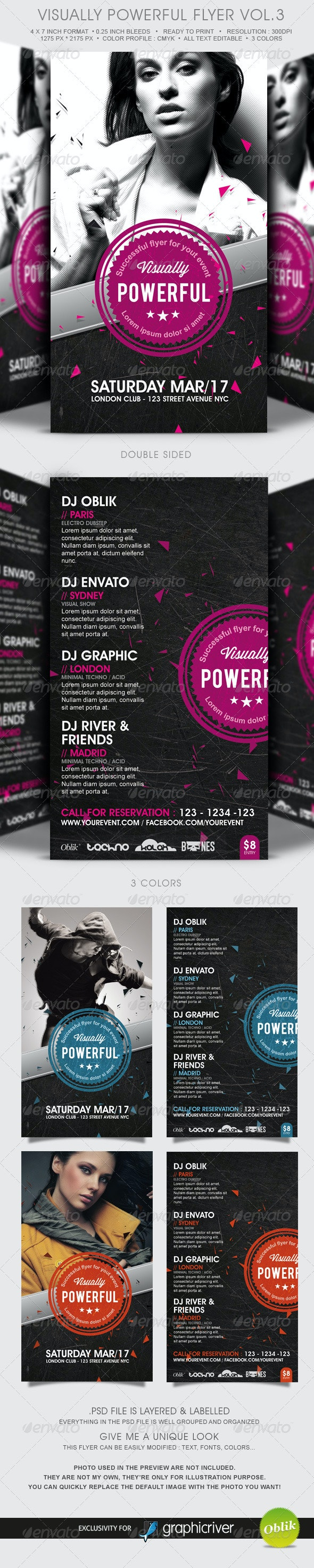 Visually Powerful Flyer Template Vol.3 - Clubs & Parties Events