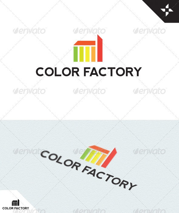 Color Factory Logo - Buildings Logo Templates