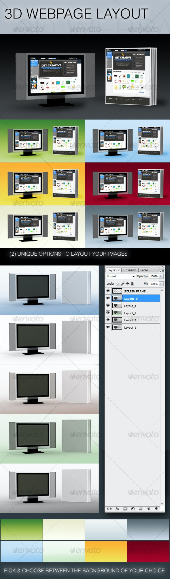 3D Image and Web Layout - Miscellaneous Web Elements