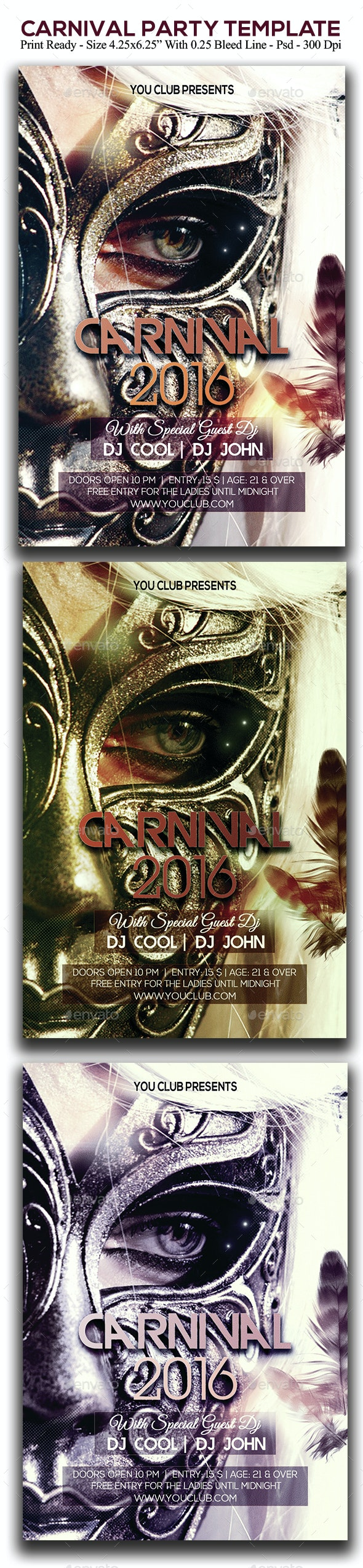 Carnival Party - Clubs & Parties Events