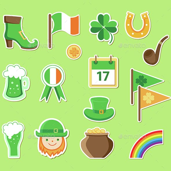 Icons for St. Patrick's Day