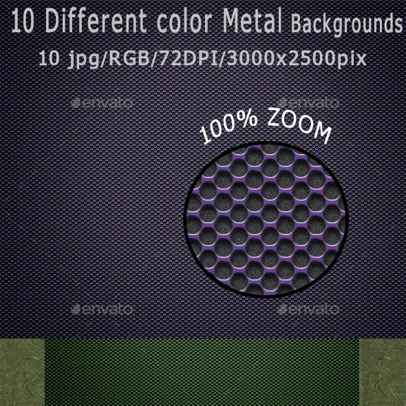 10 Different Color Metal Backgrounds