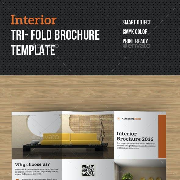 Interior Tri- Fold Brochure