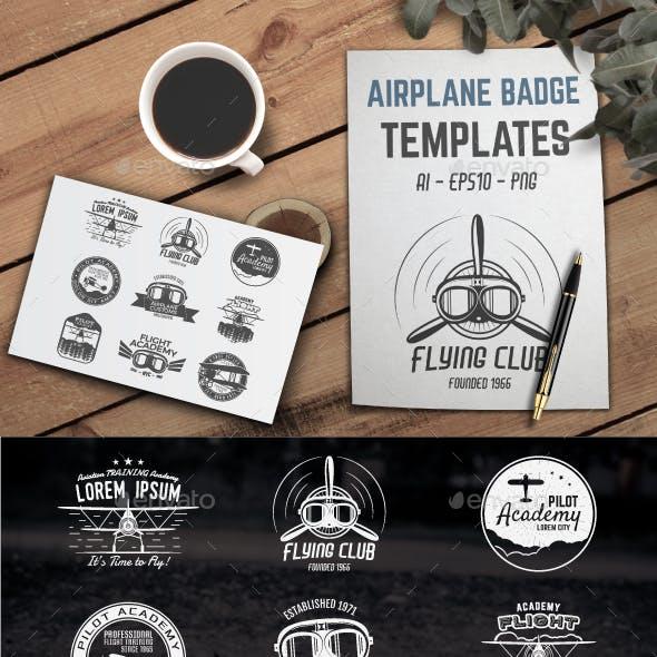Airplane Badge Designs