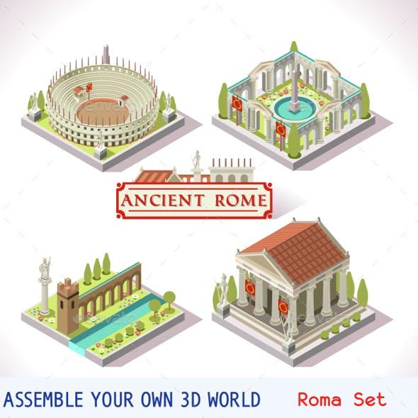 Roman 04 Tiles Isometric