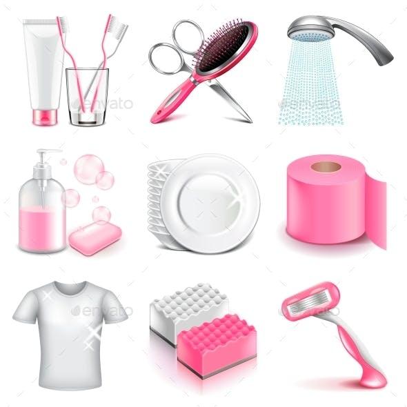 Hygiene Icons Vector Set