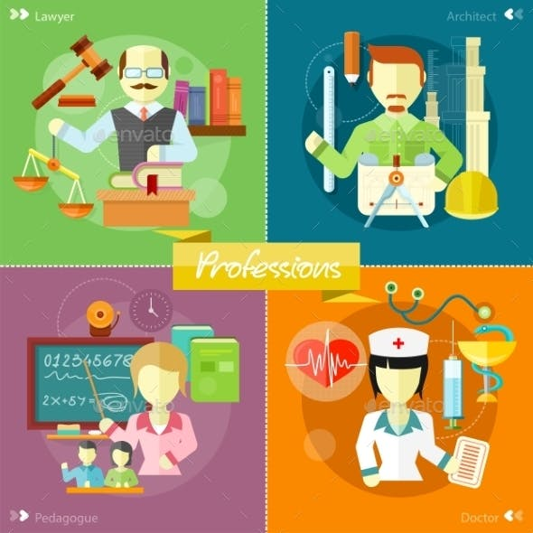 Architect, Lawyer, Doctor And Pedagogue