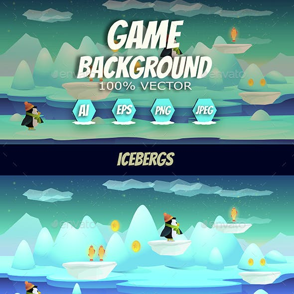 Icebergs Game Background