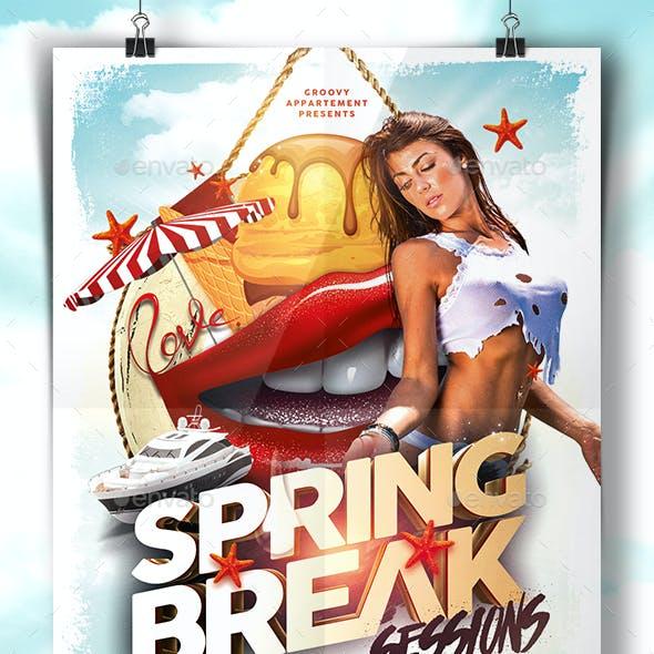 Spring Break Sessions Flyer