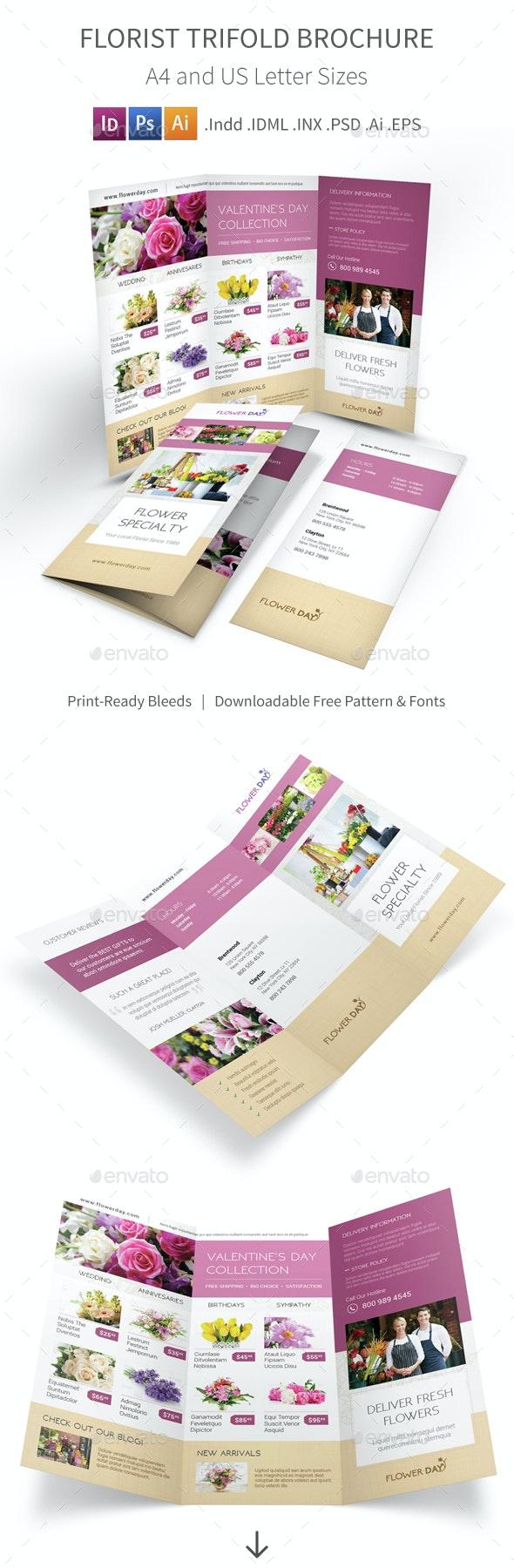 Florist Trifold Brochure 2 - Informational Brochures