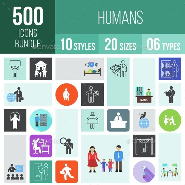 500 Humans Icons Bundle