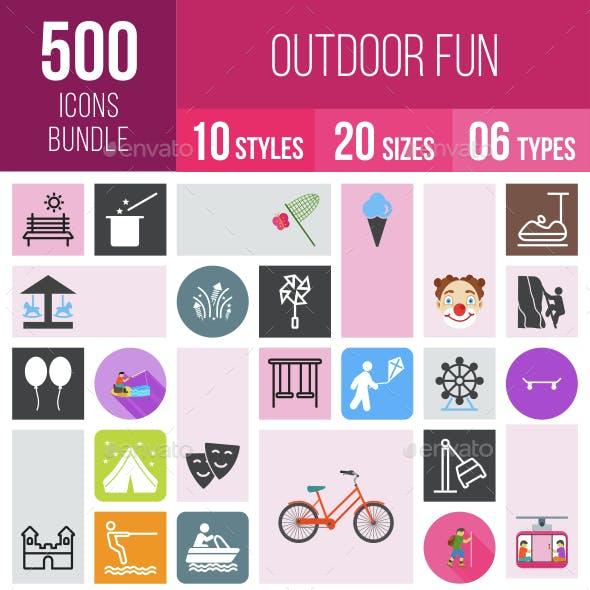 500 Outdoor Fun Icons Bundle