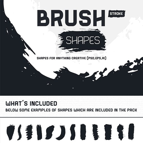 Brush Stroke Shapes