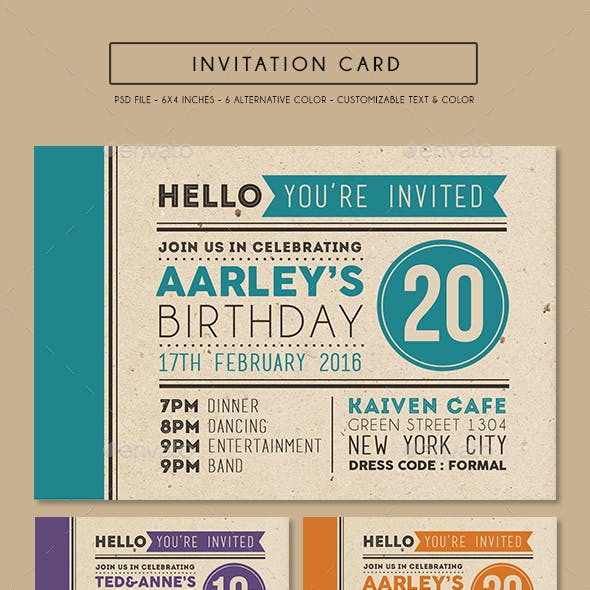 Colorfull Invitation Card