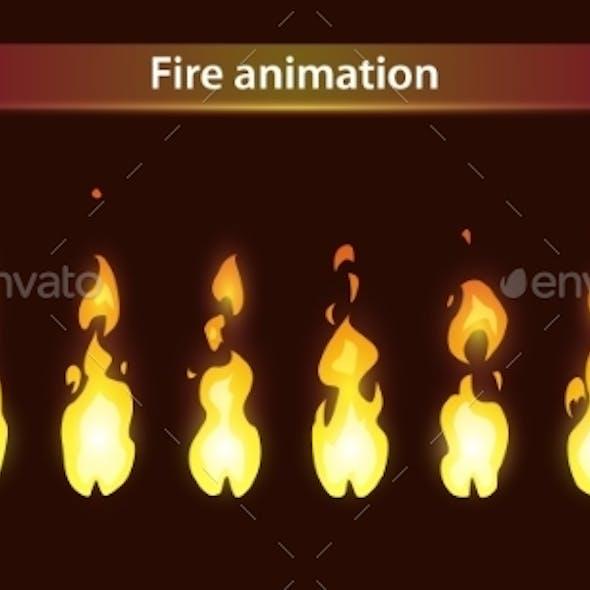 Fire Animation Sprite