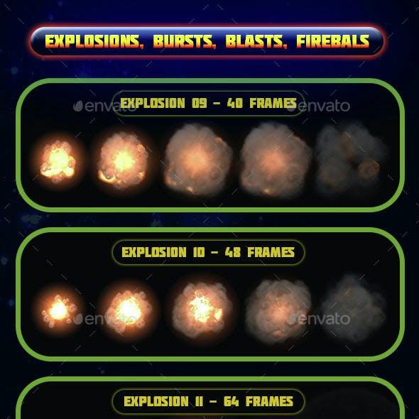 Explosions Blasts Bursts Detonations Fireballs 02