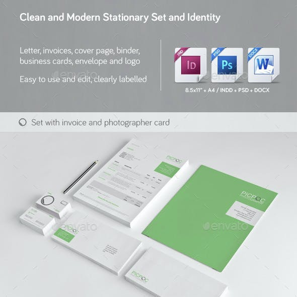 Clean & Modern Stationery, Invoice and Identity