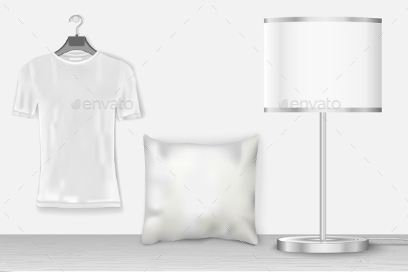 Interior Mock Up with T-Shirt  - Backgrounds Decorative