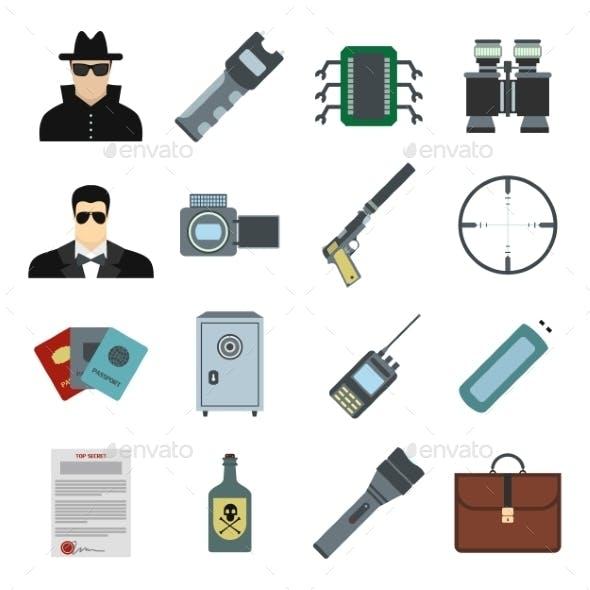 Spy Flat Icons