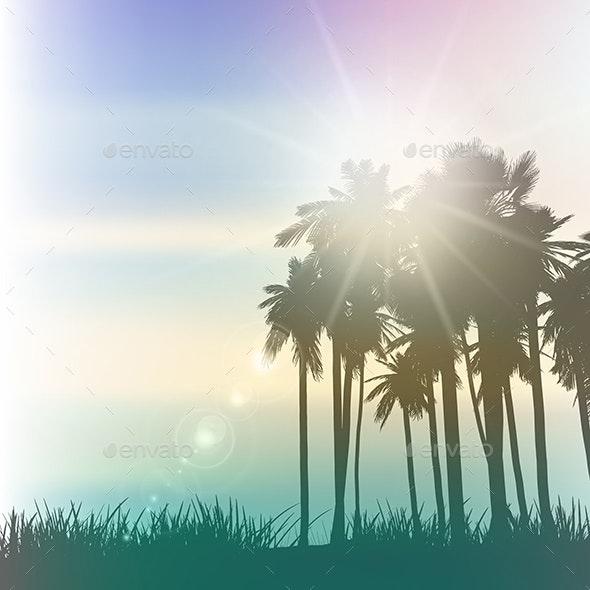 Retro Palm Trees - Landscapes Nature