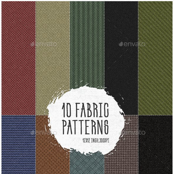 10 Fabric Patterns Pack 1