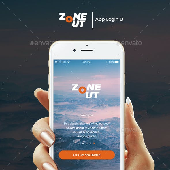 ZoneOut  - App Login UI