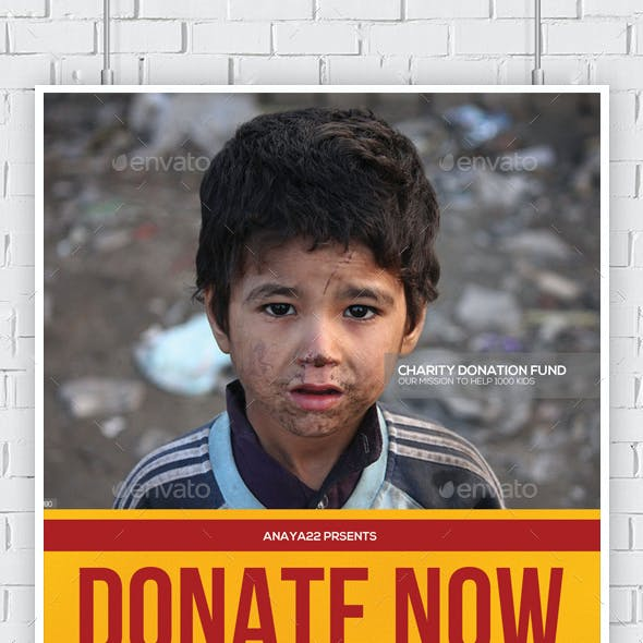 Charity Fundraiser Church Flyer