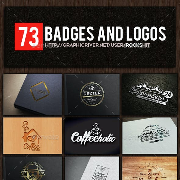 73 Badges and Logos