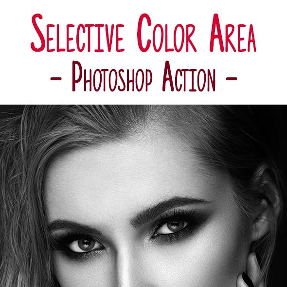 Selective Color Area Photoshop Action