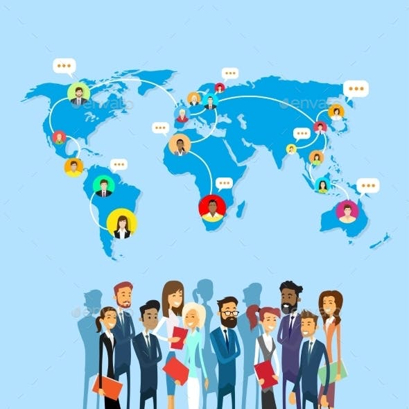 Business Group Social Network Communication