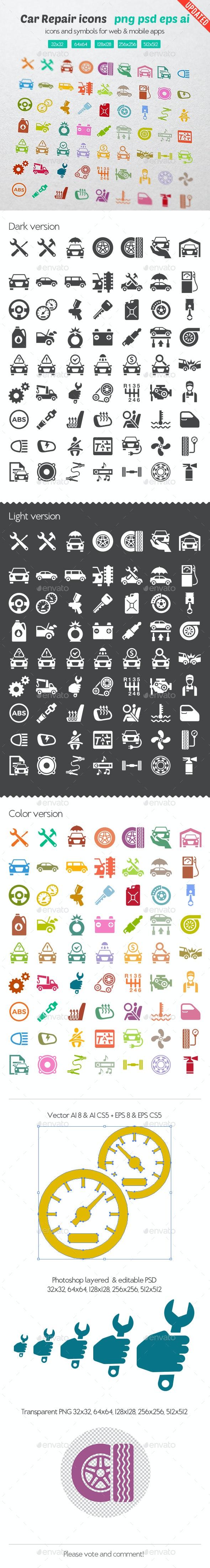 Car Repair Icons - Icons