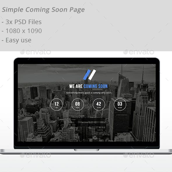 Simple Coming Soon Page