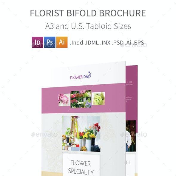 Florist Bifold / Halffold Brochure 2
