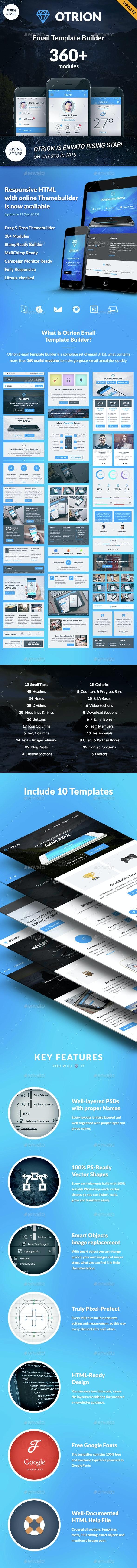 Otrion - E-mail Template Builder - E-newsletters Web Elements