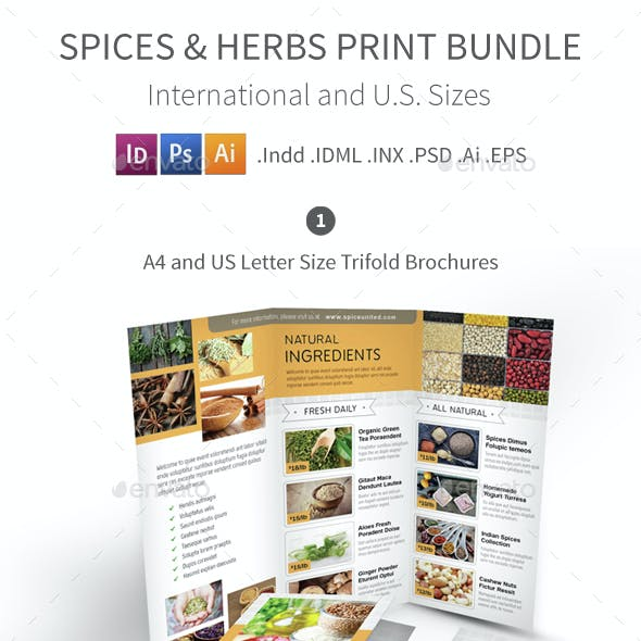 Spices and Herbs Print Bundle