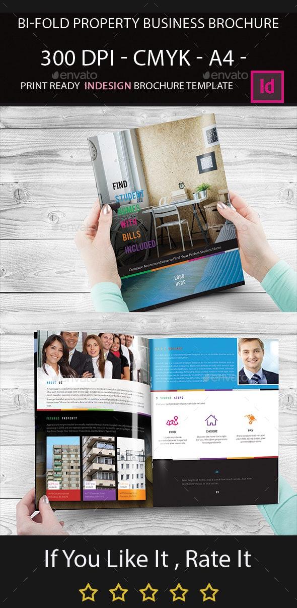 Bi-Fold Property Business Brochure - Corporate Brochures